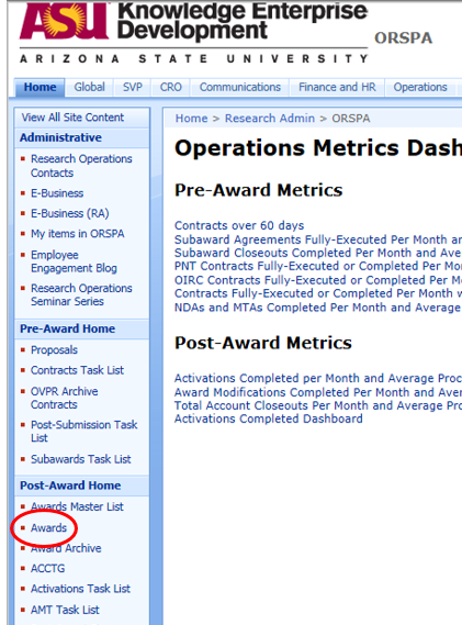 Accessing Award Documents From Amt Sharepoint 2010 Research